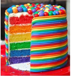 Rainbow cake (Cassata flavor)